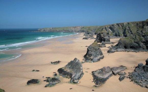 Bedruthan Steps Beach