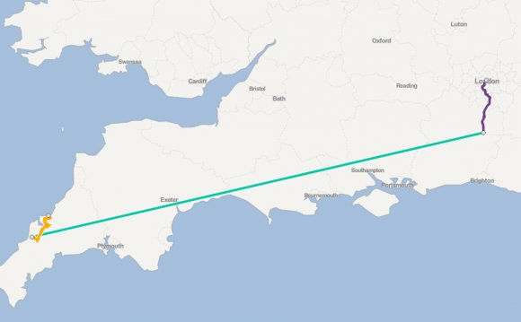 London to Port Isaac by train