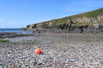 seashore at Port Gaverne, Cornwall