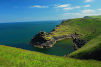 Boscastle Harbour on the North Cornish coastline