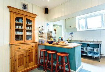 Home comforts: your kitchen has a rustic style and a breakfast bar for fast snacks