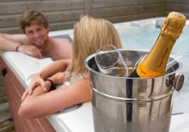 hot tub couples getaway
