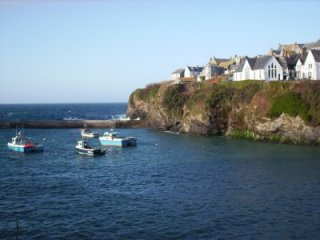 Port Isaac harbour Cornwall