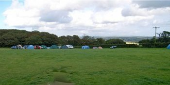 roomy camping field at Mount Douglas Farm near Carbis Bay
