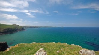 the scene from Doyden Castle, Port Isaac, Cornwall © Mike Henton