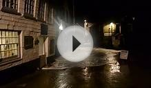 Man gets soaked in Port Isaac Storm Feb 2014