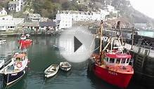 Polperro Harbour in Cornwall England on A Perfect Day