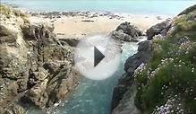 PORTH BEACH IMAGES CORNWALL UK, OPPOSITE CAMPING AND