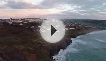 Stunning footage of Cornwall coast shot with drone becomes